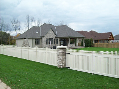 Almond Custom Kensington Fence