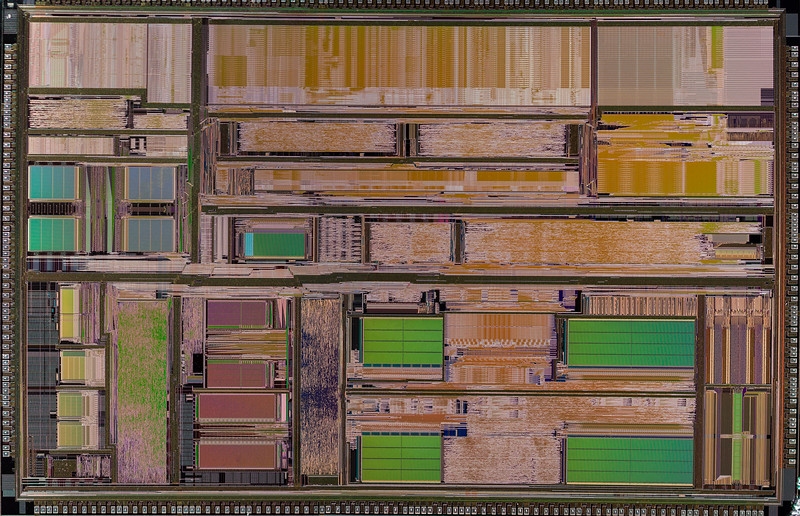 AMD K5 CPU Mosaic - Canon 50D - Canon MPE-65mm -  CombineZP 18 stacked images for each of 6 quadrants.