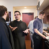 Fr. Julian Peters, OSB, taught a food prep class to the third theology seminarians during January Interterm class on January 20.