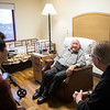 Seminary students in the J-Term Wellness class visited with infirmary monks on January 18.