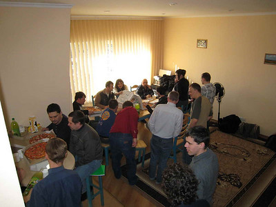 By fellowship over meals and in-class interaction, students from all over Ukraine can exchange their viewpoints and experiences.