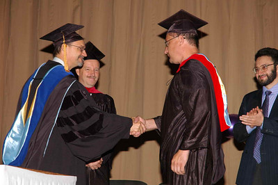President Clay and Jos Colijn (Academic Dean) congratulating M.Div. graduate Sergei Chernov in September 2007. On right is Pastor Valeri Zadorozhny of Odessa, who was our speaker that day.