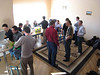 Students and professors enjoy a Pizza lunch after our March tutorial in the new offices in Kyiv.