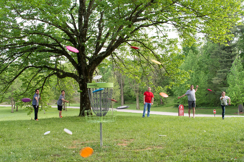There were 23 disc golfers, 17 of which were visiting seminarians from (8 from Conception, 6 from Brute, 3 from Mundelein). We brought in 9 temporary baskets in addition to our 9 permanent holes to make an 18 hole course.<br /> <br /> Individuals Round: 1st place: Dcn. Colby Elbert -scored of -2 par<br />                                         <br /> 2nd place: Br. Simon Herrmann, OSB - scored +5 par<br /> <br /> Doubles Scramble Round: 1st place: St. Meinrad: Dcn. Colby Elbert/Dcn. Kelly Edwards -score of -6 par<br />      <br /> 2nd place: Mundelein: Dcn. John Honiotes/Isaac Coulter -score of -5 par