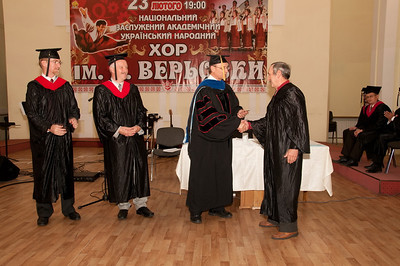 ERSU Seminary Graduation 2010 - presentation of 'Istoki' Bible College certificate to Vassili Murza of Stepan