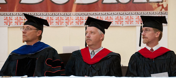 ERSU Seminary Graduation 2010 - Resident Faculty:  Quarterman, Colijn, and Andes