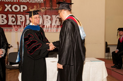ERSU Seminary Graduation 2010 - presentation of MDiv diploma to Kolya Koretsky of Kherson