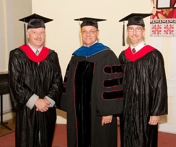 ERSU Seminary Graduation 2010 - - Resident Faculty:  Jos Colijn, Clay Quarterman, and Scott Andes