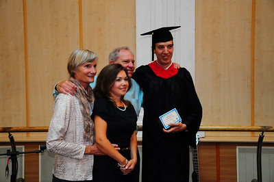 ERSU Graduation 2011 - graduate Sergei Kukushkin with wife & AC & Peggy Frese