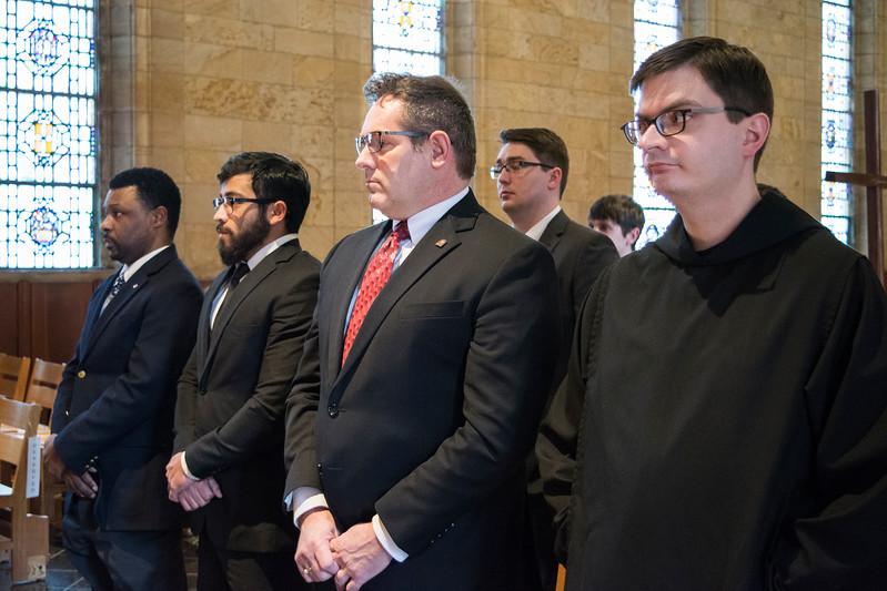 Eighteen priesthood students received the ministry of lector and Thirteen priesthood students received the ministry of acolyte from Archbishop Joseph Kurtz, of the Archdiocese of Louisville.
