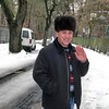 ERSU student Gutsulyuk in the snow outside Kyiv