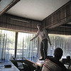 ERSU seminary session - Counseling class - professor Willem van de Horst making his point from on high!