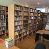 New bookshelves in ERSU library -- already almost full!