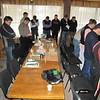 ERSU seminary students praying before class
