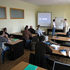 ERSU graduate Andrei Dilyuk leading monthly Hebrew tutorial in our Teaching center in Kyiv