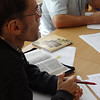 ERSU Session - Scott Andes teaching hermeneutics - students taking notes with open Bibles -