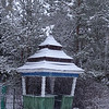 ERSU Seminary session - January -  snow - pagoda kiosk