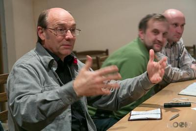 Dr. Quarterman giving a sermon critique