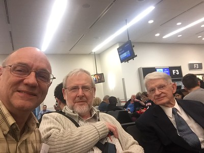 Clay in Atlanta airport with Drs VanGemeren and Watson -