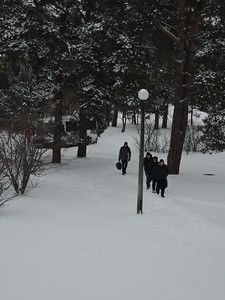 Students arriving in Narnia!