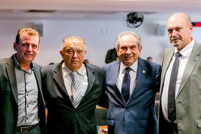 Prefeito Chico Mentes, Deputado Renato Gadelha, Senador Raimundo Lira e Deputado Estadual Jeová Campos