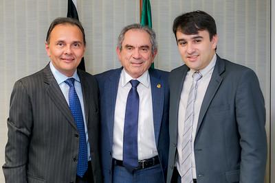 Dep Manoel Ludgério, Senador Raimundo Lira e Prefeito Aquino de Alagoa Nova