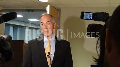 Bob Casey At Press Conference In Johnstown, PA