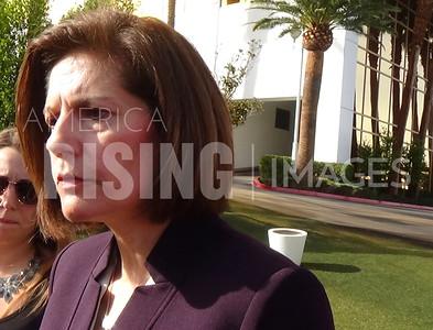 Catherine Cortez Masto At Press Conference Protesting Trump Outside Trump Hotel In Las Vegas, NV