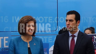 Catherine Cortez Masto At Press Conference With Ruben Kihuen In Las Vegas, NV