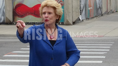 Debbie Stabenow At AFL-CIO Labor Day Parade In Detroit, MI