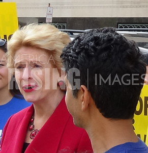 Debbie Stabenow At Rally For Medicare And Medicaid In Detroit, MI