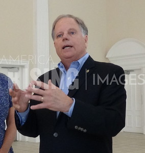 Doug Jones Attends Roundtable In Montevallo, AL