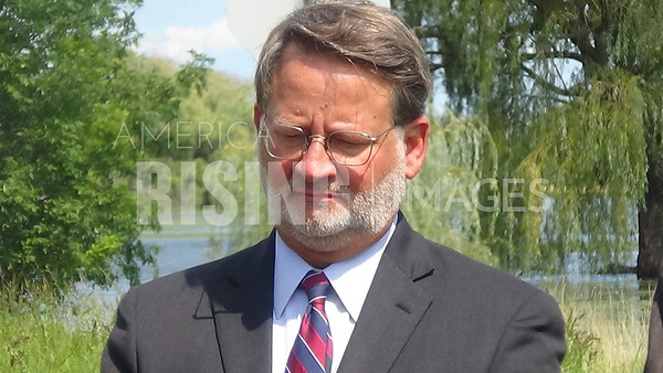 Gary Peters Speaks at Great Lakes Restorative Initiative Press Conference in Detroit, MI