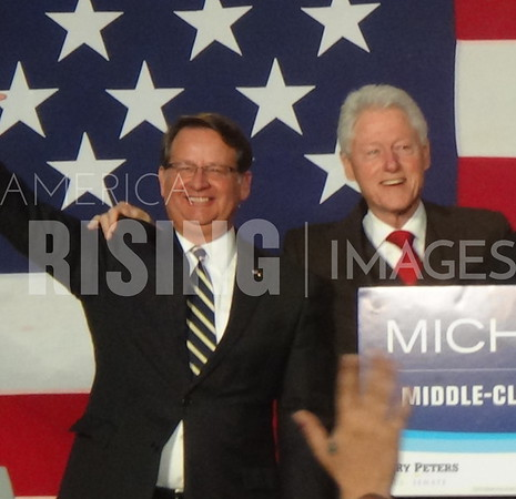 Gary Peters At Campaign Rally In Flint, MI