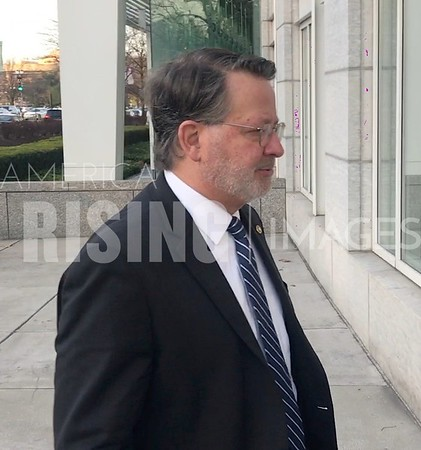 Gary Peters Arrives to Event In Washington DC