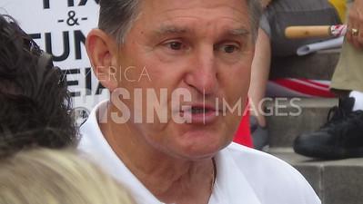 Joe Manchin At Teacher's Rally In Charleston, WV