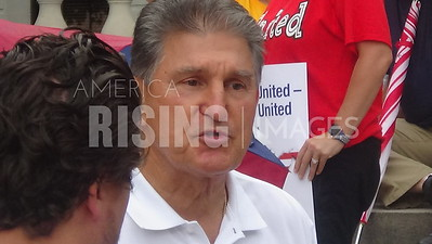 Joe Manchin At Teacher's Rally In Charleston, WV