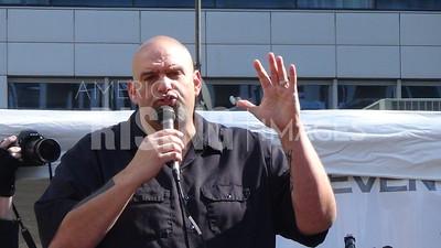 John Fetterman At Bernie Sanders Rally In Pittsburgh, PA