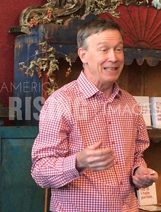 John Hickenlooper Speaks at meet and greet in Vernon, IA