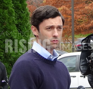 Jon Ossoff attend Protect our care presser in Atlanta, GA