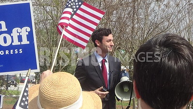 Jon Ossoff At Early Vote Rally In Decatur, GA