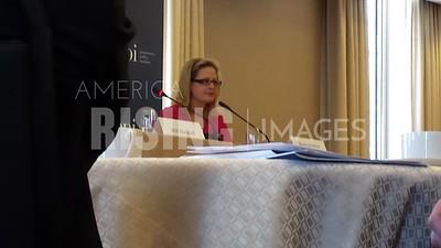 Kyrsten Sinema At PPI Regulation Talk In Washington, DC