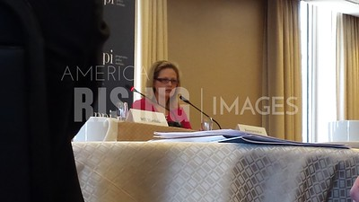 Kyrsten Sinema At PPI Regulation Talk In Washington, DC