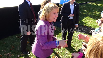 Maggie Hassan At Hillary Clinton Campaign Rally With Elizabeth Warren, Ann Kuster, Carol Shea-Porter, And Colin Van Ostern At Saint Anselm College In Manchester, NH
