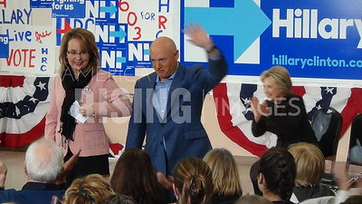 Mark Kelly at Clinton Rally in Derry, NH