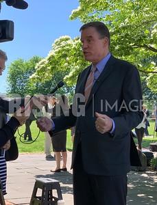 Mark Warner At National Parks Presser At Senate Swamp In Washington, DC