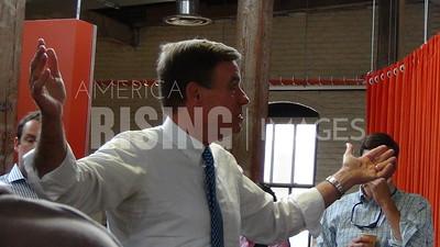 Mark Warner At The Corrugated Box Building For The Richmond Entrepreneurs Forum In Richmond, VA