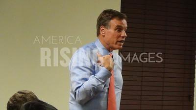 Mark Warner At Virginia Tech In Blacksburg, VA