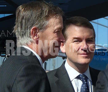 Michael Bennet At RTD Grand Opening With John Hickenlooper In Denver, CO