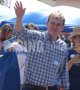 Michael Bennet At Fiesta Day Parade In Pueblo, CO